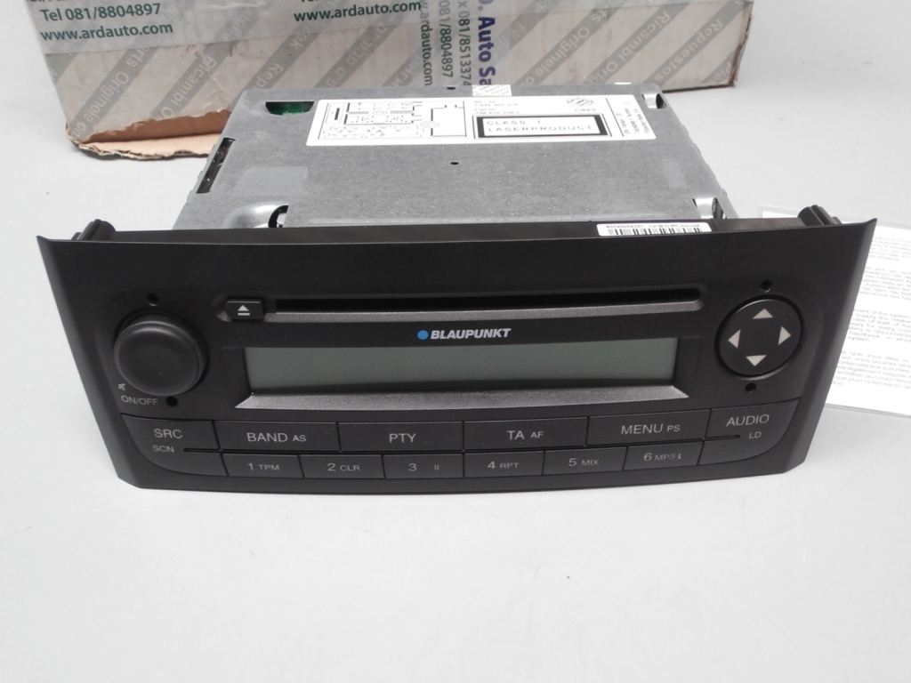 735410728 car radio blaupunkt cd mp3 fiat grande punto. Black Bedroom Furniture Sets. Home Design Ideas